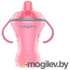 Поильник BabyOno Natural Nursing  с мягким носиком 6м+ / 1457 (180мл, розовый)
