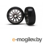 Traxxas Tires/Wheels Assembled/Glued 12-Spoke Black (2).