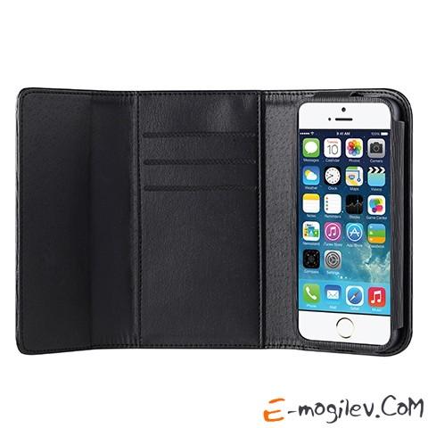 Ozaki O!coat Zippy для iPhone 5/5S/5C. Имеются отделения для кредитной карты.Цвет чехла: черный. OC570BK