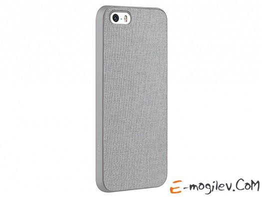 Ozaki O!coat 0.3+ Canvas для iPhone 5/5S. Задняя внешняя отделка выполнена из ткани. Cерый OC543GE