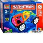 Конструктор магнитный Город мастеров Машинка с фигуркой / DT-4023-R (16эл)