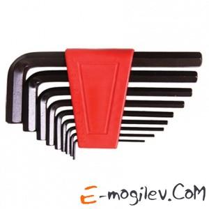 MATRIX Набор ключей имбусовых HEX, 1,5–10 мм, CrV