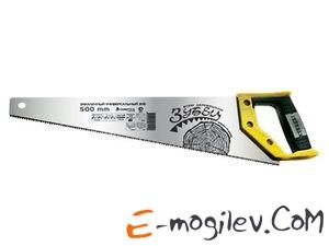 "СИБРТЕХ Ножовка по дереву ""Зубец"", 500 мм, 7-8 TPI, зуб 2D, калёный зуб, 2-х компонентная рукоятка"