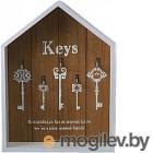 Ключница настенная Grifeldecor Домик Keys / BZ192-4W265