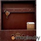Ключница настенная Grifeldecor С полкой / BZ192-4C266 (коричневый)