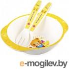 Набор детской посуды Happy Care HC105 (желтый)