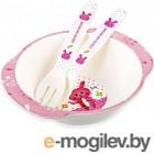 Набор детской посуды Happy Care HC105 (розовый)