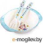 Набор детской посуды Happy Care HC105 (синий)