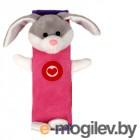 Накладка на ремни безопасности и лямки рюкзаков Olmio Зайчик Pink-Lilac 38731