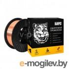 Барс Проволока омеднен. БАРС ER-70S-6 ф 0,8 мм, кассета 5 кг, аналог СВ-08ГС
