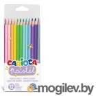 Карандаши цветные Carioca Pastel 43034 12цв. коробка/европод.