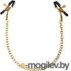 Тиски для сосков Pipedream Gold Chain Nipple Clamps / 18202 (черный/золото)
