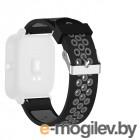 Аксессуары для смарт-часов Ремешок DF для Xiaomi Amazfit Bip xiSportband–01 Black-Grey