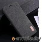 Чехол-книга Mofi Fabric Flip для Xiaomi Redmi 7, черный [PO3152]