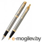 Набор Parker IM Core TK223 (2093217) Brushed Metal GT ручка роллер, ручка шариковая подар.кор.