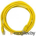 Patch cord UTP 5 level 1m   Желтый