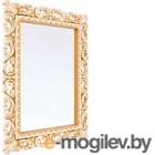Зеркало интерьерное Мебель-КМК Багира 1 0465.9 (белый/золото)