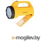 Ultraflash LED3819CSM фонарь акку. 220В желт., 9LED +12SMD LED, 2 реж, SLA, плас., коробка 12860