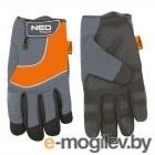 NEO Перчатки рабочие, спилок, PCV, размер 10 97-605