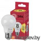 ЭРА Б0032095 ECO LED A55-8W-827-E27 Лампа ЭРА (диод, груша, 8Вт, тепл, E27)