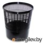 Корзина для бумаг Стамм КР01 круглая 18л. пластик перфорированный черный