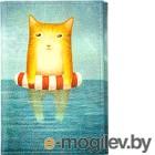Обложка на паспорт Vokladki Котик в море / 20003
