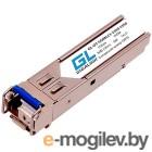 Модуль SFP GIGALINK GL-OT-SG08LC1-1550-1310-D, WDM, 1Гбит/c, одно волокно SM, LC, Tx:1550/Rx:1310 нм, DDM, 8 дБ (до 3 км)