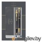 Набор Parker IM Core FK221 (2093216) Black GT ручка перьевая, ручка шариковая подар.кор.