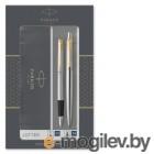 Набор Parker Jotter Core FK691 (2093257) Stainless Steel GT ручка перьевая, ручка шариковая подар.кор.