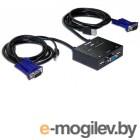 KVM-переключатель D-Link KVM-221/C1A 2-портовый KVM-переключатель с портами VGA и USB