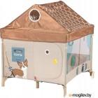 Игровой манеж Happy Baby Alex Home с лампой / 93000 (коричневый)