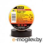Изолента ПВХ 19мм (рул.20м) Scotch Super 33+ черн. 3М 7000042541