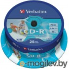 Verbatim CD-R 80min 700Mb 52x 25 шт Cake Box DL Printable 43439
