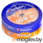 Verbatim DVD-R 4.7Gb 16x Shrink/25 43730
