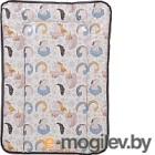 Доска пеленальная Polini Kids Волшебный Единорог (70x50см, серый)