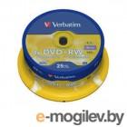 Verbatim DVD+RW 4.7Gb 4x 25 шт Cake Box 43489