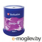Verbatim DVD+R 4.7Gb 16x 100 шт Cake Box 43551