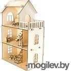 Кукольный домик Woody С мебелью / 02529
