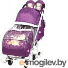 Санки-коляска Ника Disney-baby 2. Винни и друзья DB2/1 (баклажановый)