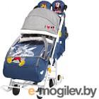 Санки-коляска Ника Disney-baby 2. Микки Маус DB2/4 (темно-синий)
