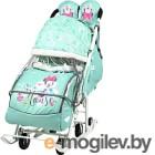 Санки-коляска Ника Disney-baby 2. Минни Маус DB2/2 (мятный)