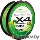 Леска плетеная Mistrall Shiro Bl Green 0.04мм 150м / ZM-3420004