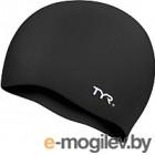 Шапочка для плавания TYR Wrinkle Free Silicone Cap / LCS/001 (черный)
