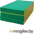 Гимнастический мат No Brand 1x0.5x0.1м (зеленый/желтый)