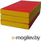 Гимнастический мат No Brand 1x0.5x0.1м (красный/желтый)