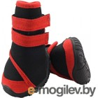 Ботинки для собак Triol YXS134-M / 12241230 (черный с красным)