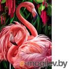 Набор алмазной вышивки Алмазная живопись Пара фламинго / АЖ-1739