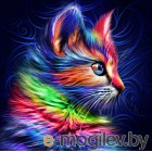 Набор алмазной вышивки Алмазная живопись Разноцветный котенок / АЖ-1777