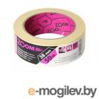 Лента малярная 38ммх50м ZOOM Super glue, желтая