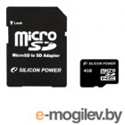 Silicon Power SDHC-micro 4Gb SP004GBSTH004V10-SP